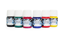 Value Pack of 6 x 30ml bottles of Silkcraft Iron Fixed Silk Paint