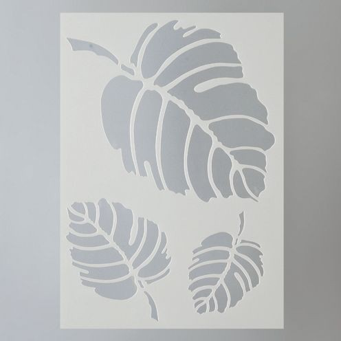 Efco Stencil - Leaves (Approx 21cm x 15cm)