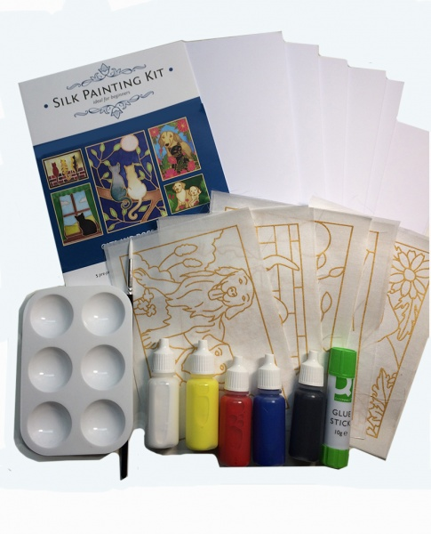 Silk Painting Card Making Kit - Cats and Dogs