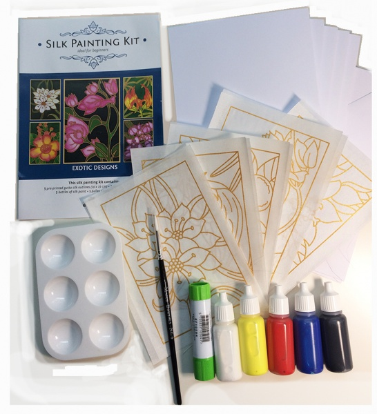 Silk Painting Card Making Kit - Exotic Flowers