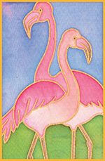 Flamingo Design Card