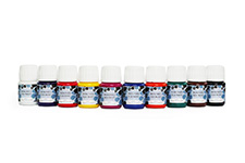 Value Pack of 10 x 30ml bottles of Silkcraft Iron Fixed Silk Paint