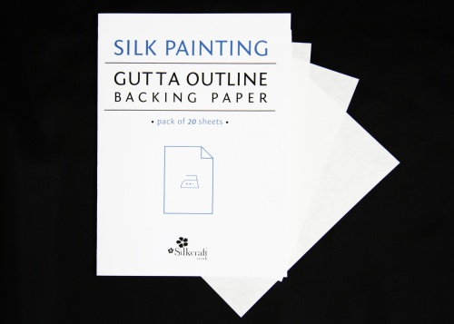 Freezer Paper Sheets 20pack for printed gutta outlines 12x17cm