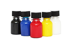 Trial pack of 5 x 17ml bottles Silkcraft Iron Fixed Silk Paint