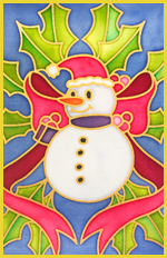 Pack of 5 Assorted Xmas Themed Gutta Outlines - Snowman pack