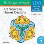 Art Nouveau Flower Designs- By Polly Pinder - Book and CD