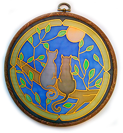 Two Cats 18cm Suncatcher