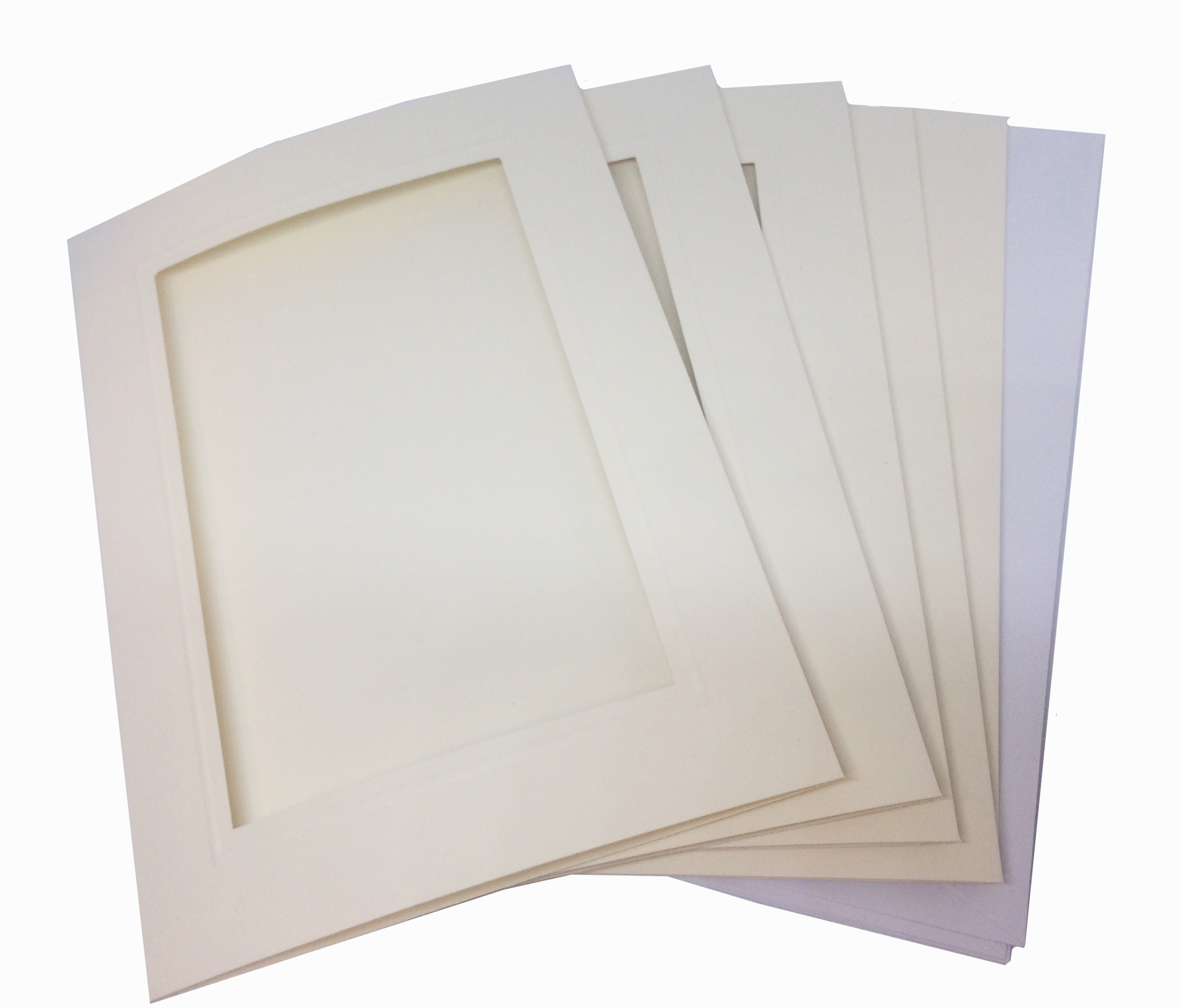 Pack of 5 Rectangular Aperture Cards and Envelopes