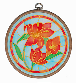 Stained Glass Lily 18cm Suncatcher