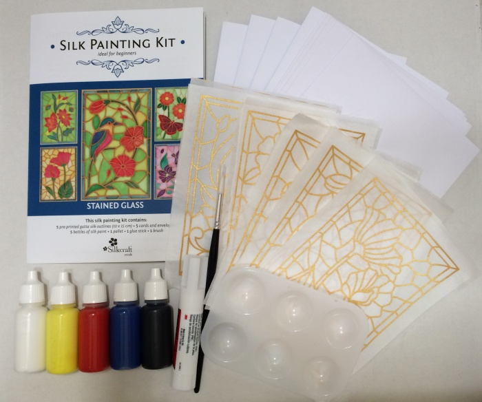 Silk Painting Card Making Kit -Stained Glass