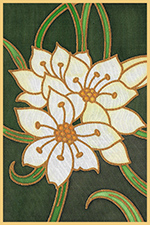 White Rain Lily Design Card