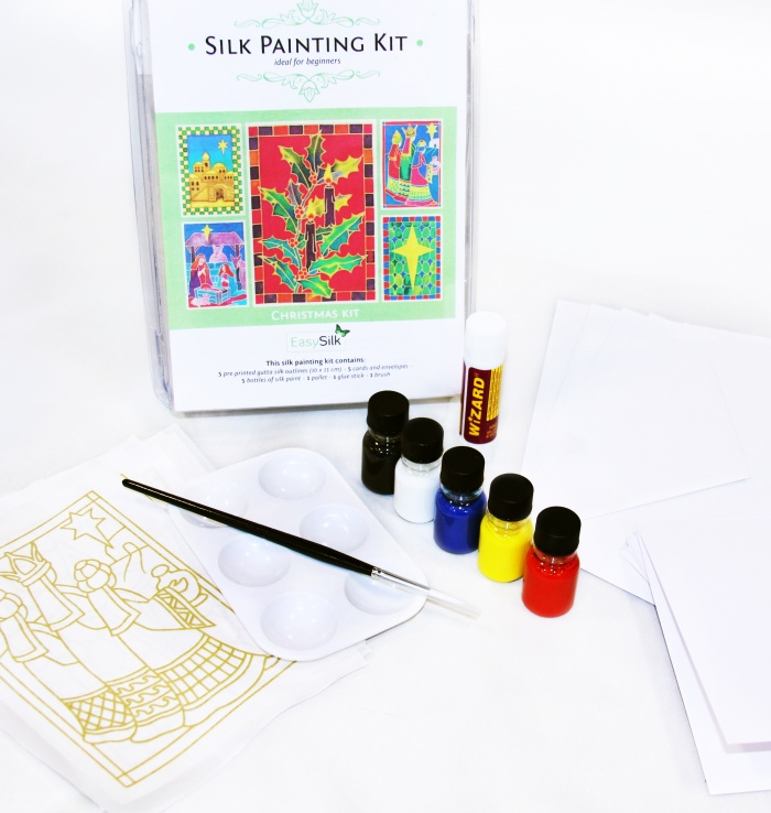 Silk Painting Card Making Kit - Christmas