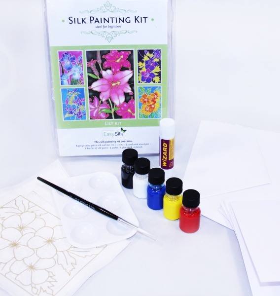Silk Painting Card Making Kit - Lily