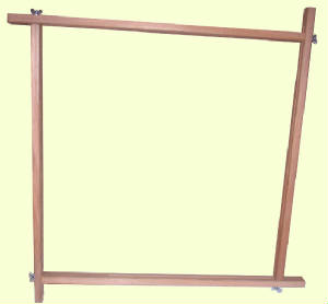 Adjustable Wooden Screw Frame - choice of 2 sizes  (Will be sent on 3-5days delivery service)